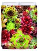 Succulent Garden Duvet Cover