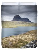 Suilven On A Stormy Day Duvet Cover