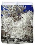 Summer Park In Infrared Duvet Cover