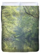 Summer Time River And Trees Duvet Cover