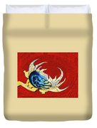 Sun And Moon On Red 2 Duvet Cover