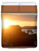 Sun Rise At Lyme Regis  Duvet Cover