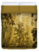 Sunbeams In The Foggy Forest #3 Duvet Cover