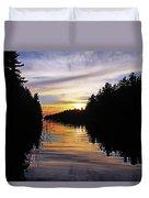 Sundown On The River Duvet Cover