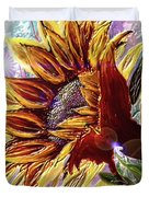 Sunflower In The Sun Duvet Cover by Darren Cannell