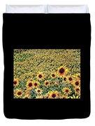 Sunflowers In Kansas Duvet Cover