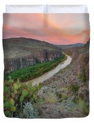 Sunrise In Big Bend Along The Hot Springs Trail 1 Duvet Cover