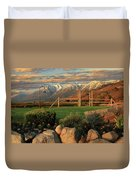 Sunrise In Carson Valley Duvet Cover