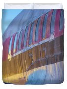 Sunrise On An Old Airplane Duvet Cover