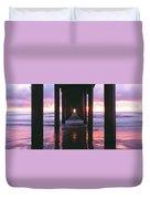 Sunrise Over The Pacific Ocean Seen Duvet Cover