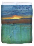 Sunset - Abstract Landscape Painting Duvet Cover