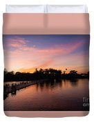 Sunset At Angkor Wat Duvet Cover