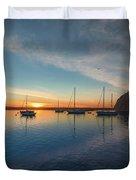 Sunset At Morro Bay Duvet Cover