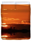 Sunset Behind Clouds Two Duvet Cover