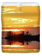 Sunset Behind The Tree Tops Two  Duvet Cover