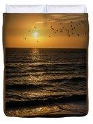Sunrise Birds North Carolina Duvet Cover