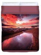 Sunset Harmony At Kiva Beach Duvet Cover