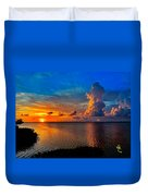 Sunset On Cudjoe Bay 8584 Duvet Cover