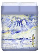 Sunset On The Lagoon, Venice - Digital Remastered Edition Duvet Cover