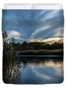 Sunset On The Lake Duvet Cover