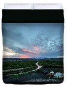 Sunset On The Rio Grande Duvet Cover