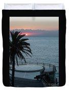 Sunset Over A Balcony Duvet Cover