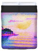 Sunset Over The Sea - Digital Remastered Edition Duvet Cover