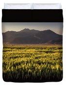 Sunset Over Wheat Duvet Cover