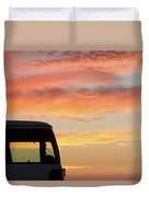 Sunset With The Van Duvet Cover