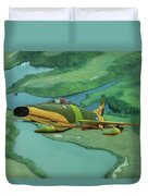 Super Sabres Over Vietnam - Oil Duvet Cover