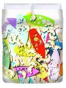 Surf Globe Trotters  Duvet Cover
