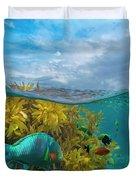 Surf Parrotfish, Damselfish And Basslet Duvet Cover