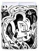 Surrealism Painter Duvet Cover