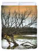 Swamp And Dead Tree Duvet Cover