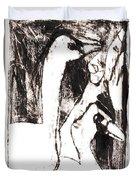 Swans After Mikhail Larionov Black Oil Painting 5 Duvet Cover
