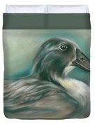 Swedish Blue Duck Duvet Cover by MM Anderson