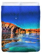 Swells And Reflections Lake Powell Duvet Cover