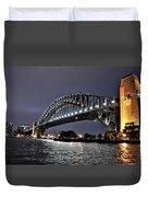Sydney Harbor Bridge Night View Duvet Cover