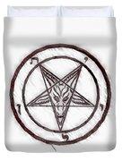 Symbol Of The Occult Duvet Cover