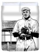 Take Me Out To The Ballgame Duvet Cover by Clint Hansen