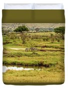 Tanzania Animal Landscape Duvet Cover