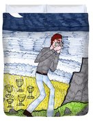 Tarot Of The Younger Self Eight Of Cups Duvet Cover