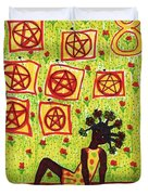 Tarot Of The Younger Self Eight Of Pentacles Duvet Cover