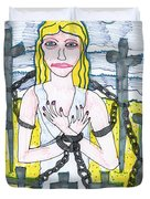 Tarot Of The Younger Self Eight Of Swords Duvet Cover