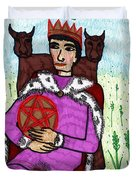 Tarot Of The Younger Self King Of Pentacles Duvet Cover