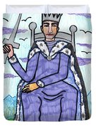 Tarot Of The Younger Self King Of Swords Duvet Cover
