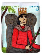 Tarot Of The Younger Self King Of Wands Duvet Cover