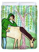 Tarot Of The Younger Self Knight Of Cups Duvet Cover