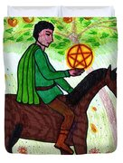 Tarot Of The Younger Self Knight Of Pentacles Duvet Cover