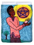 Tarot Of The Younger Self Page Of Pentacles Duvet Cover